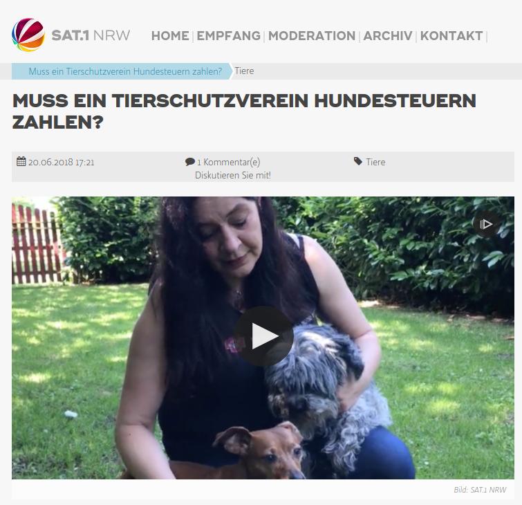Urteil zur Notpfote-Klage gegen Hundesteuer für Pflegestellen SAT1 NRW