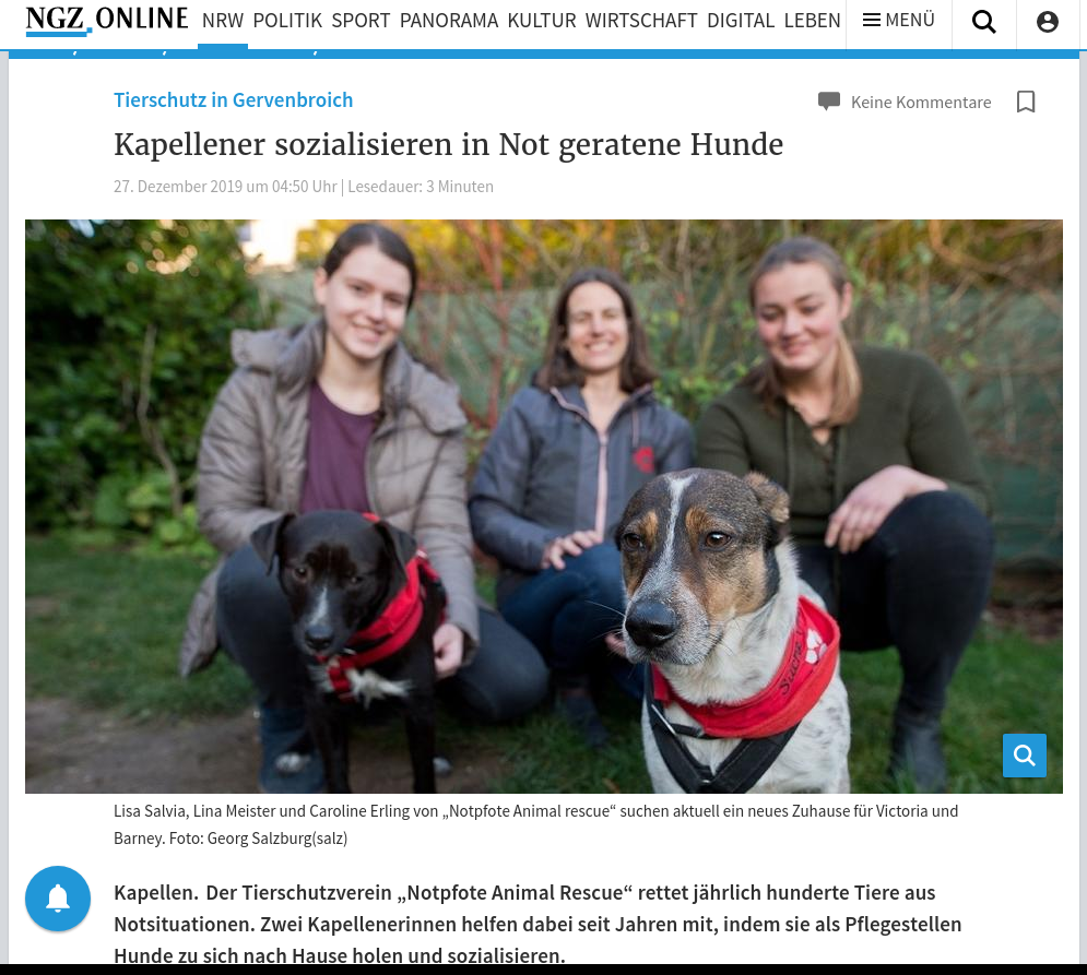 Tierschutz in Grevenbroich : Kapellener sozialisieren in Not geratene Hunde